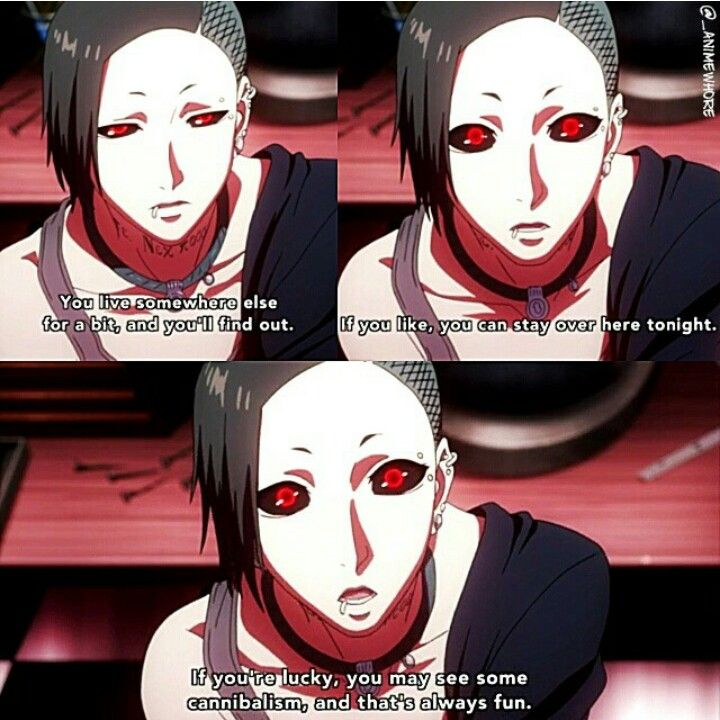 Tokyo ghoul Uta   there needs to be more characters like this..