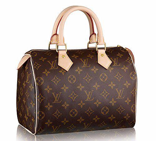 SALE PRICE -  2699.88 - Women s Authentic Louis Vuitton Speedy 25 Brown  Monogram Travel Bag 3302acdc159f8