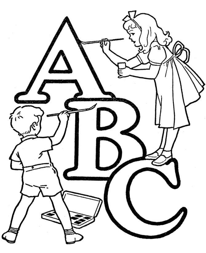 ABC Alphabet Words Coloring Activity Sheet | Letter ABC Bonus Page