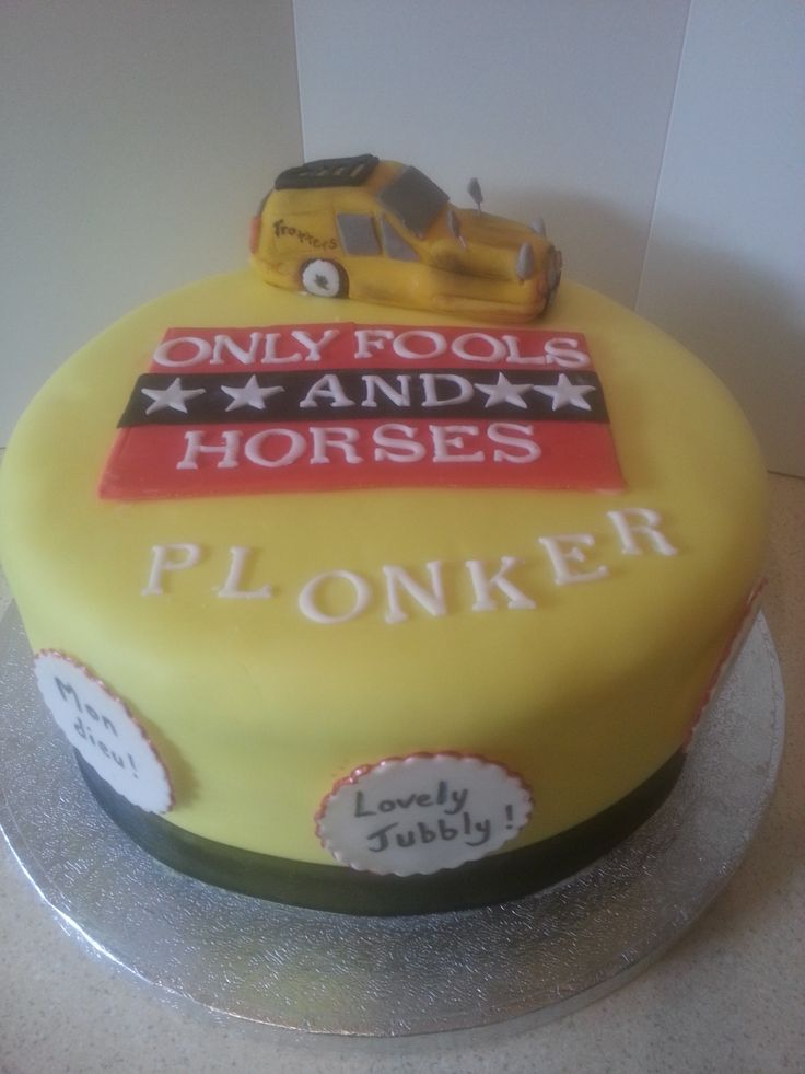 Gary S Only Fools And Horses Themed Birthday Cake Pinterest