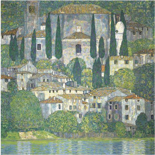 Gustav Klimt KIRCHE IN CASSONE (LANDSCHAFT MIT ZYPRESSEN) (CHURCH IN CASSONE - LANDSCAPE WITH CYPRESSES)