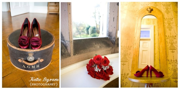 Shoes and flower detail Ellingham Hall  http://www.photographybykatie.co.uk