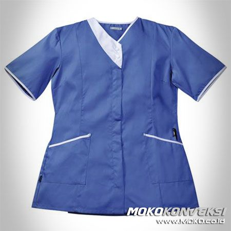 SERAGAM PERAWAT, MEDIS & PAKAIAN RUMAH SAKIT. Desain Baju Suster Warna Biru Putih.