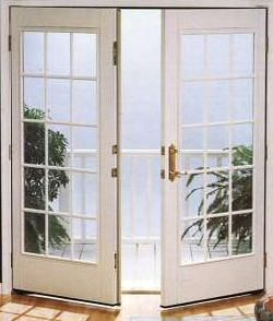 Replace sliding glass doors with french doors (Anderson = Lifetime guarantee)