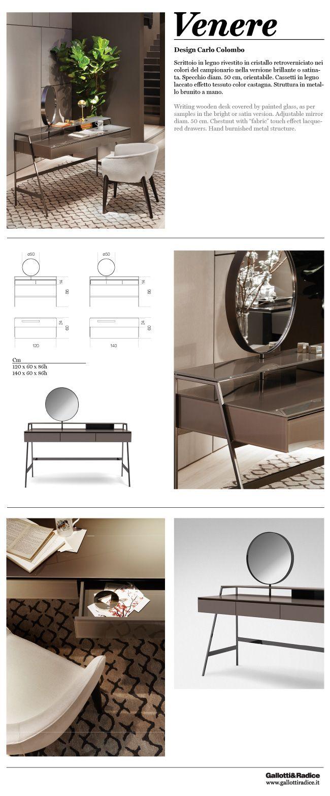 Gallotti Radice Venere Design Carlo Colombo Writing Wooden Desk Mobilya Yatak Odasi Dolaplar