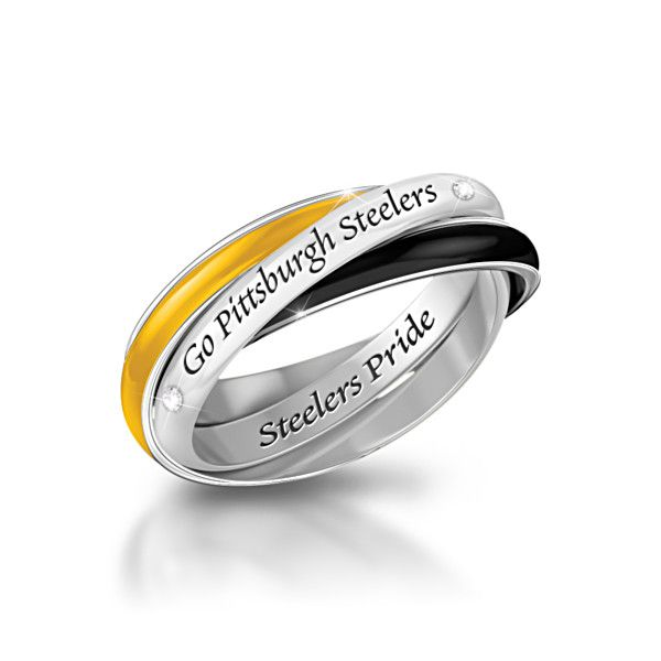 Pittsburgh Steelers Rolling Ring.....Would this be a tacky wedding band!!! haha