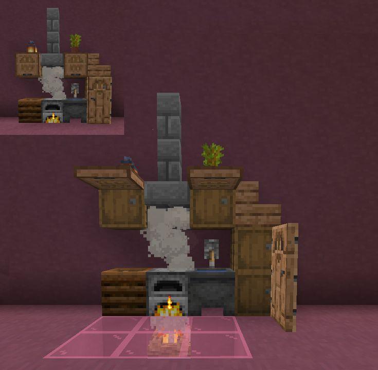 Neat little kitchen design. : Minecraft | Minecraft furniture, Minecraft crafts, Minecraft wallpaper