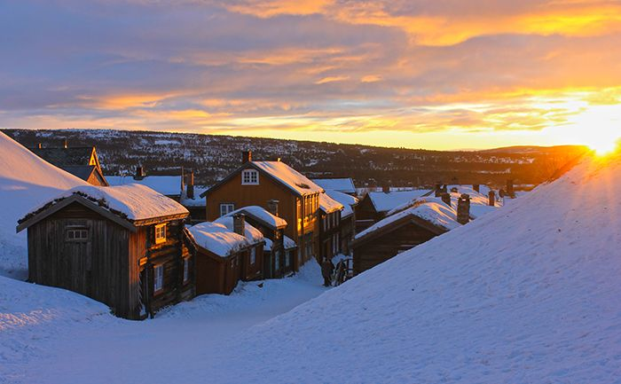 Sunset whilst travelling in Røros Norway