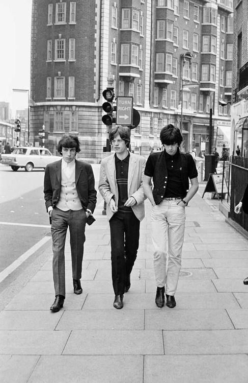 Bill Wyman, Mick Jagger and Keith Richards in London, 1964