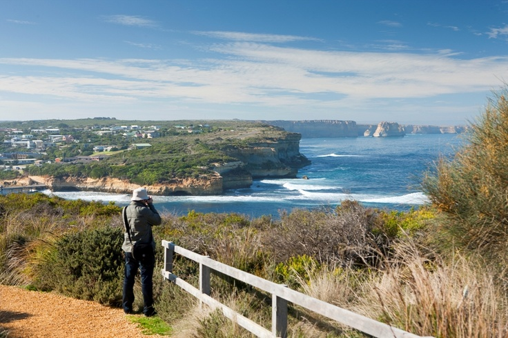 The Port Campbell Discovery walk has views back towards the 12 Apostles and the seaside village of Port Campbell