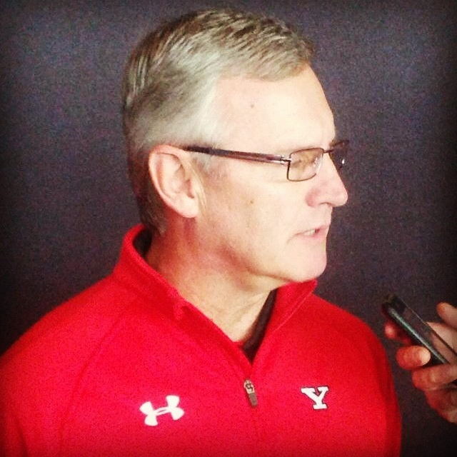 Former YSU and Ohio State coach Jim Tressel in attendance for today's Indiana State - Youngstown State game. Tressel says he's committed to the University of Akron for two years in his current position and then he'll see what happens after that. Dana's full interview with Coach Tressel will air next week. We will let you know when.