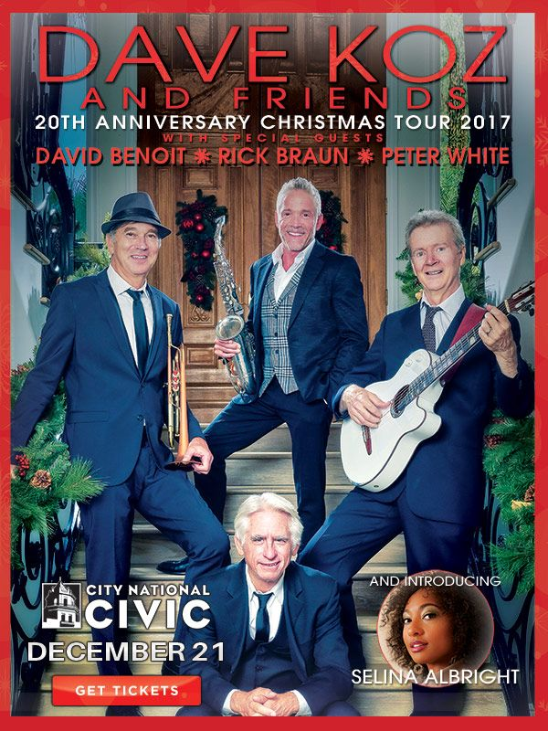Dave Koz Christmas Tour 2017 at the Civic in San Jose, CA on December 21, 2017.