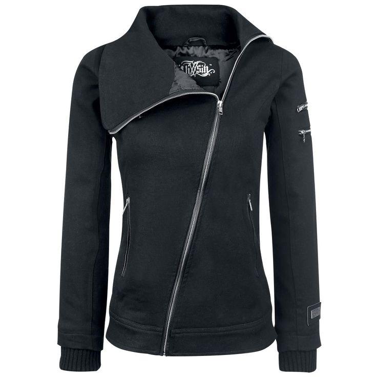 Vixxsin  Vest met capuchon  »Wolven Jacket«   Nu te koop bij Large   Meer Rock wear  Vesten met capuchon online beschikbaar - De beste prijs!