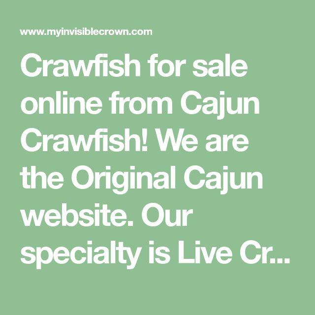 Crawfish for sale online from Cajun Crawfish! We are the Original Cajun website. Our specialty is Live Crawfish, direct from our crawfish farm in Branch, LA.