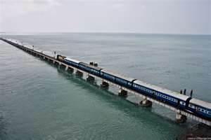 rameshwaram express crossing the pamban bridge