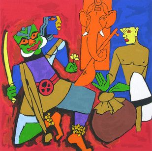 Buy and Sell Paintings Online | Indian Artists Art Gallery Online | Contemporary Paintings - mojarto.com. m f hussein