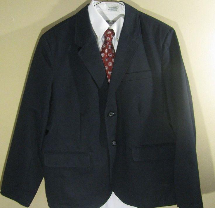 LL Bean Men's Size 44S Blazer 2  Button Cotton Excellent Condition #LLBean #TwoButton