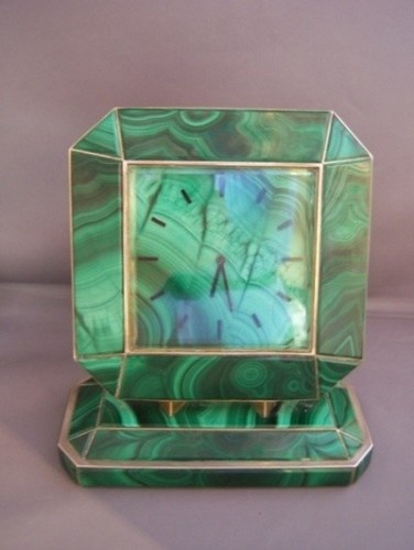 Fabulous Art Deco Malachite Clock.