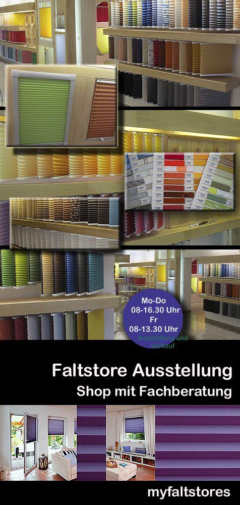Plissee Rollo XXL - in der Faltstore Ausstellung / Shop  von Myfaltstores.de in Hessen.