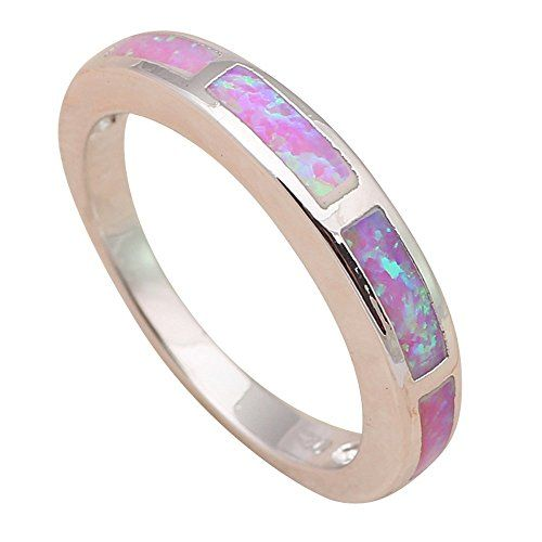 T-Jewelry Fashion Attractive Pink Fire Opal Jewelry Ring ...