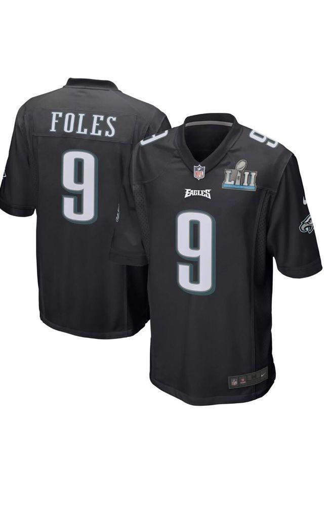 low priced dd3ee 6cf0a Nike Womens Nick Foles Super Bowl Jersey Black Size Medium ...