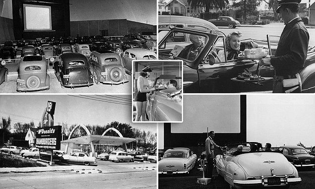 Fascinating images reveal the glory days of US drive-ins #DailyMail