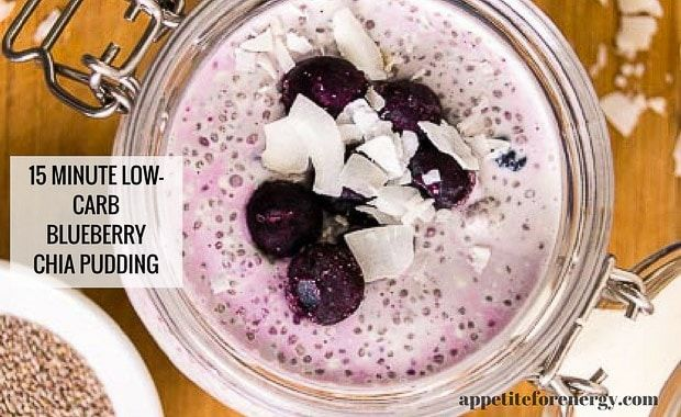 15 Minute Low Carb Blueberry Chia Pudding Recipe Chia Pudding