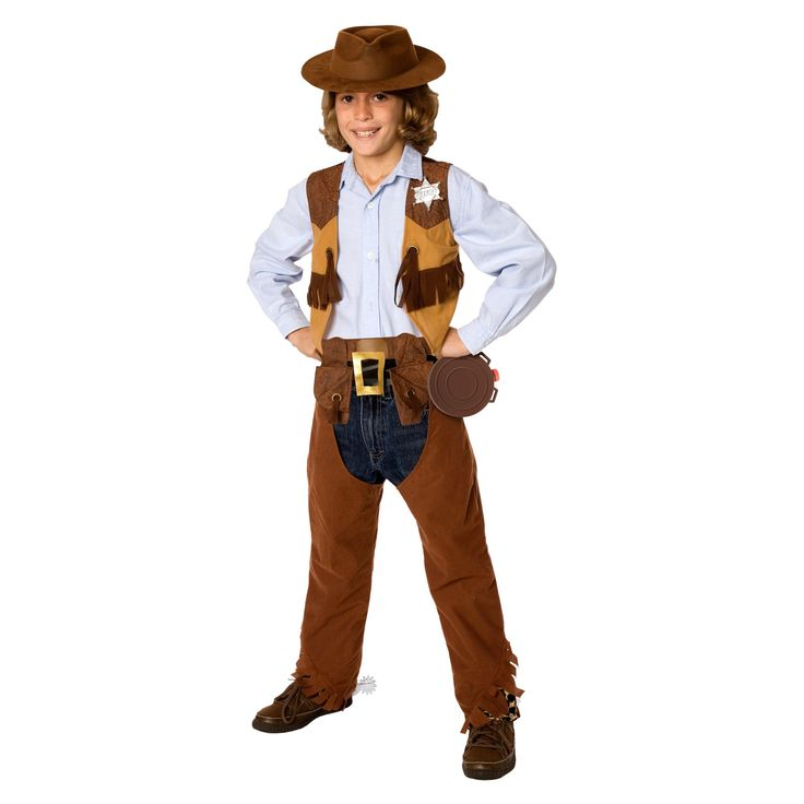 Halloween Boys' Cowboy Costume Kit Medium 7-8, Size: M(7-8)