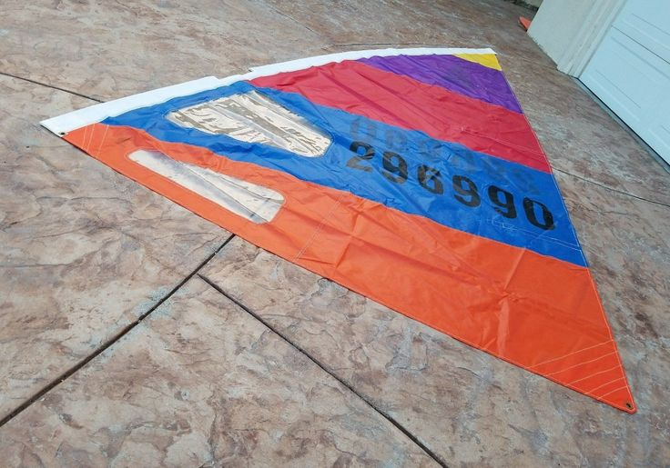 awesome Classic Windsurfing Sail Authentic Traditional Windsurfer Model One Design Early 80's