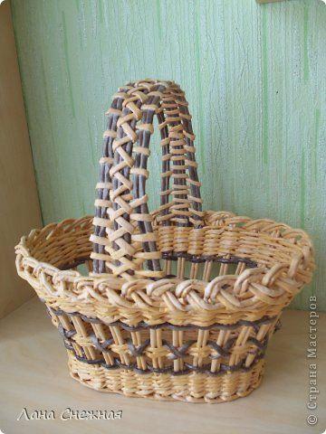Поделка изделие Плетение Ажурочка Бумага газетная фото 1