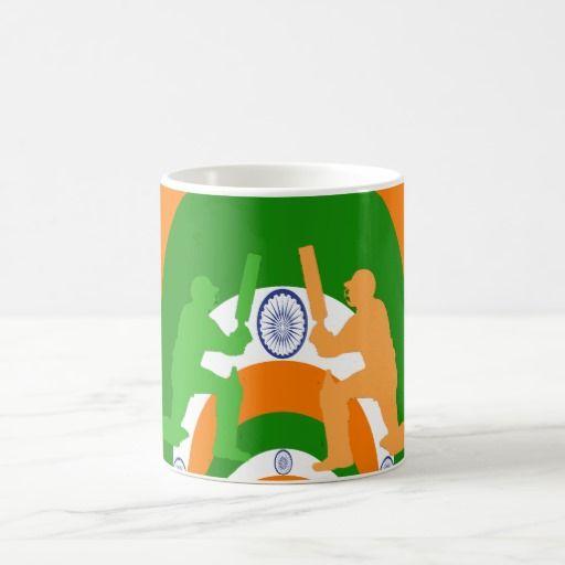 India National Flag colors Chricket #team Customize Product Coffee Mug