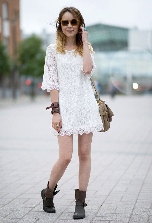 What to Wear with a Pretty White Lace Dress - Glam Bistro