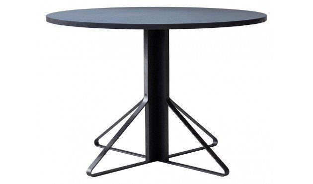 Kaari Runder Tisch Gross Hpl Hochglanz Weiss Gestell Naturholz Mit Schutzlack Artek Ronan Erwan Bouroullec Runder Tisch Design Tisch Tisch