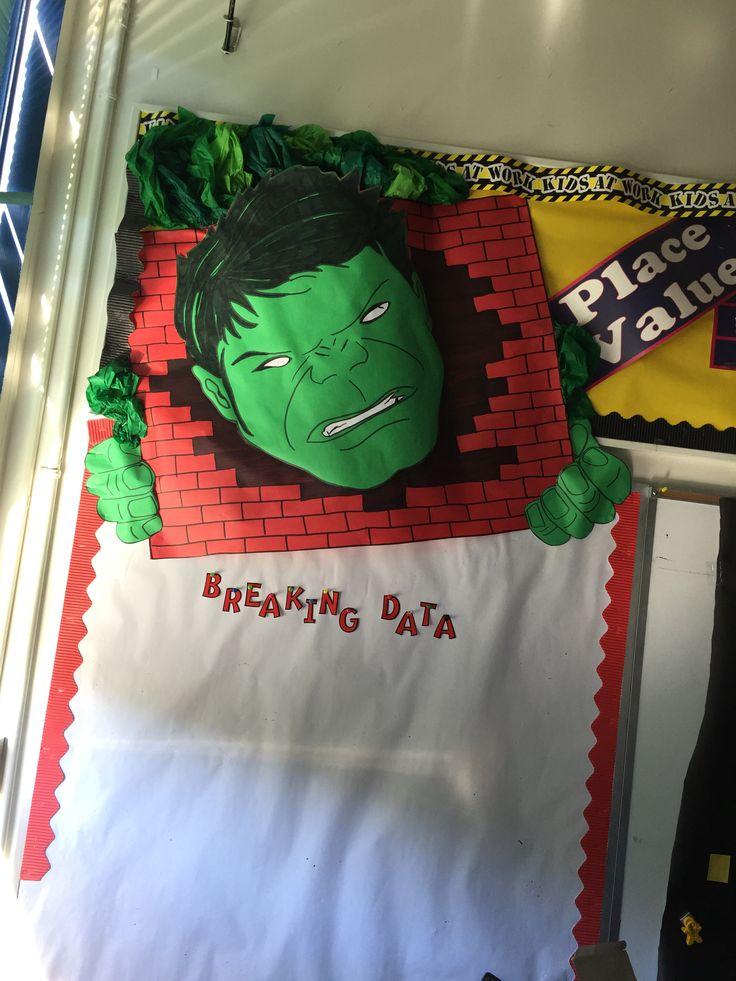 Hero themed data wall Incredible Hulk bulletin board ...