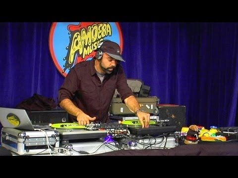 "DJ Nu-Mark, half of the beat making genius behind Jurassic 5, blew minds at Amoeba Hollywood with an epic set of inspiring turntablism followed by his famous ""toy set."""