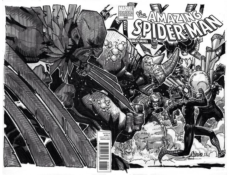 Amazing Spider-man - Spder-man vs Sinister Six   Oh how I love Chris Bachalo art.