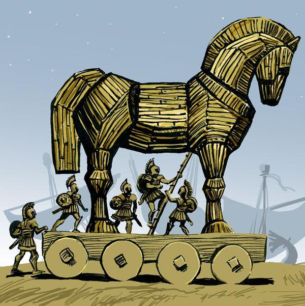 Trojan horse - color by jacktzekov on deviantART. Tags: trojan horse, trojan war, aeneid,