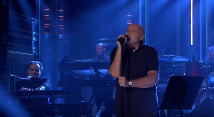 """Der ehemalige Genesis-Drummer Phil Collins machte in der Talkshow von Jimmy Fallon Werbung für seine Comeback-Tour - und sang mit The Roots """"In The Air Tonight""""."""