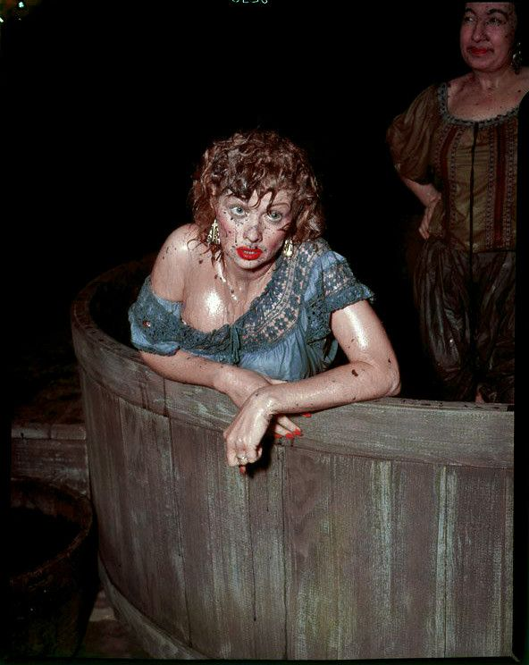 Lucille Ball in her *Classic* grape-stomping scene when Lucy was out & about soaking up some local color in Italy.