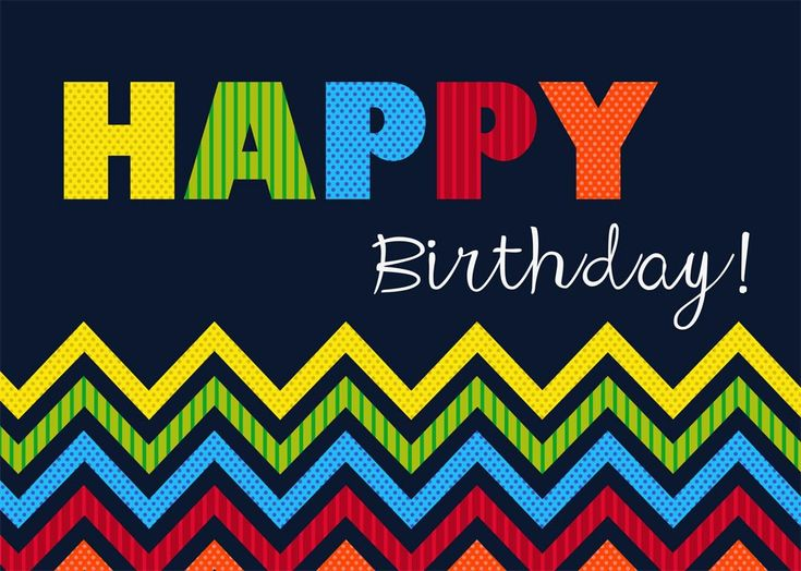Bright Chevron - Birthday Cards from CardsDirect