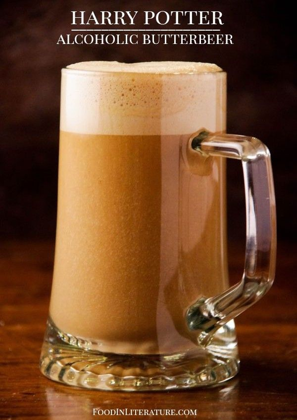 Harry Potter alcoholic butterbeer recipe from Food in Literature