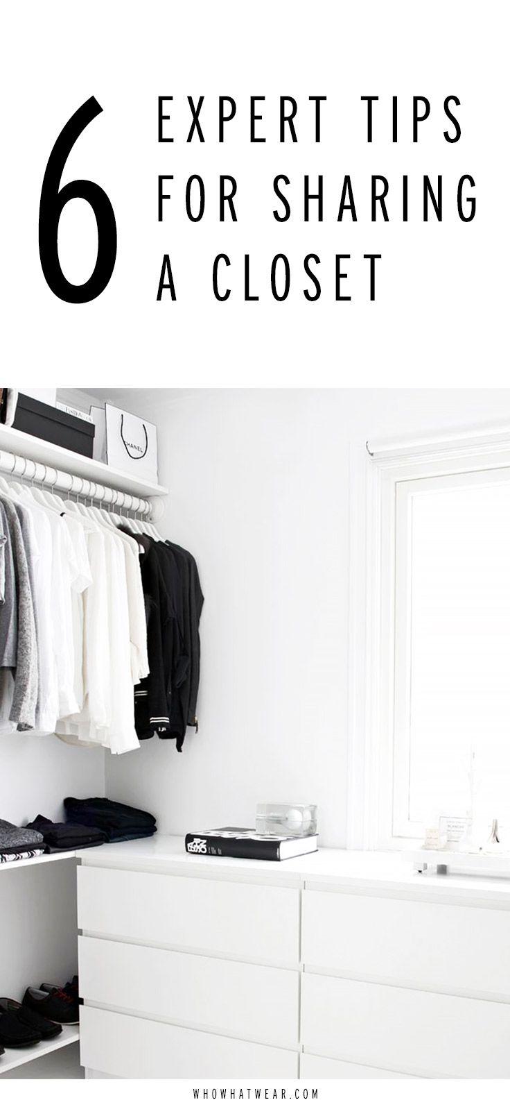 How to properly share a closet