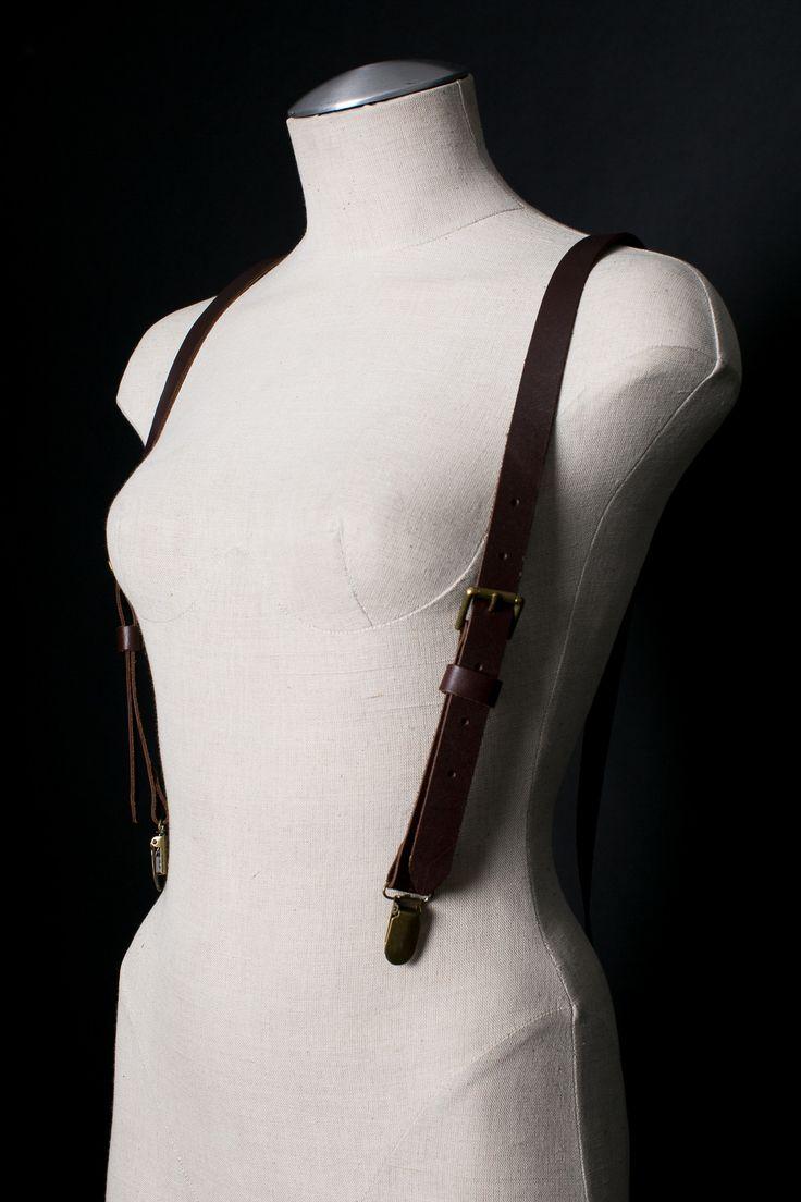 Womens Matte Suspenders