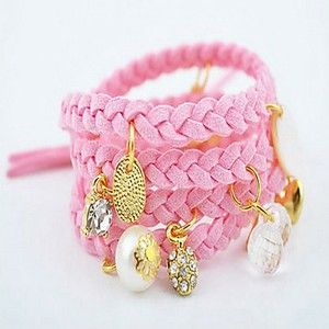 Incredibly sweet multilayer bracelet with charms