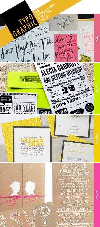 typographic: typographic wedding invitation inspiration