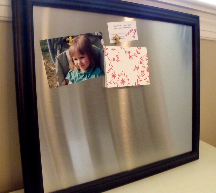 large framed magnetic bulletin board memo board stainless steel simple mag board includes 3. Black Bedroom Furniture Sets. Home Design Ideas