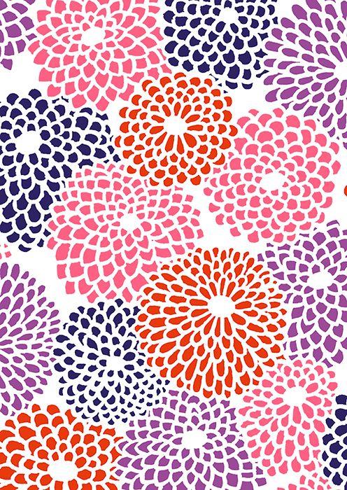 "Cover of ""SOUSOU Notebook Collection -eChrysanthemum Burst (plain)"" #patttern #JapanesePattern #SOUSOU"