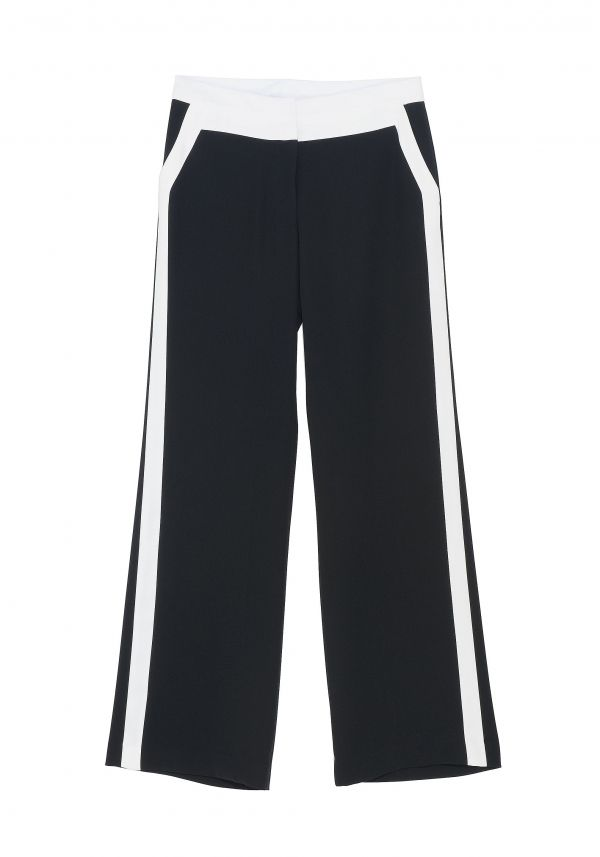 QL2 - NYDIA BICOLOR WIDE LEG PANT  (THE STREET IS A LARGE GYM) #women's #fashion