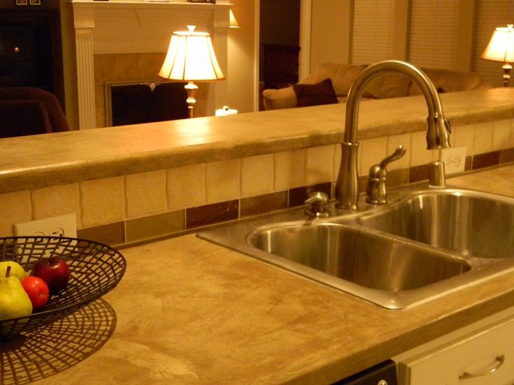 ... effective transformation of a residential kitchen countertop and bar