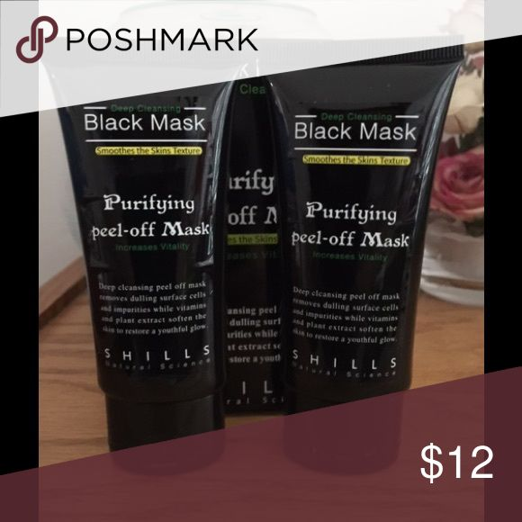 Shills Deep Cleansing Black Mask 2 pieces. Deep Cleansing Black Mask Pore Cleaner Purifying Peel-Off 50 mL Other
